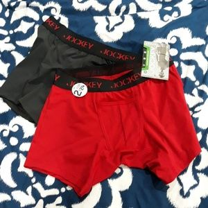 Jockey boxer brief trunk 2 pack size small